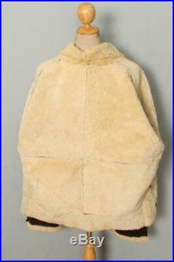 Vtg B-3 Sheepskin'Memphis Belle' Leather Winter Flight Jacket XL