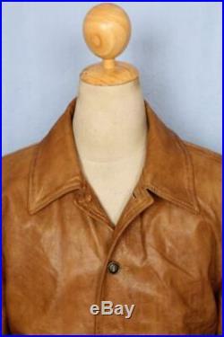 Vtg BELSTAFF'Aviator' Leather Flight Motorcycle Jacket Size Large