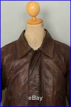 Vtg BELSTAFF Aviator Leather Sports Bomber Jacket Size Medium