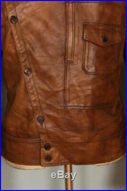 Vtg BELSTAFF Aviator Sports Motorcycle Leather Jacket Medium/Large