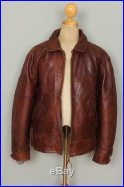 Vtg DIESEL 40s Style Highwayman Leather Sports Motorcycle Jacket Large