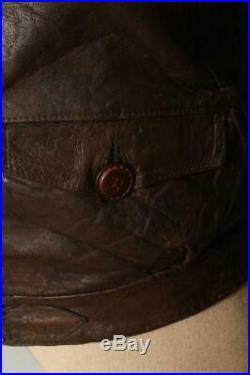 Vtg GERMAN Leather Cyclist HARTMANN Flight Jacket Luftwaffe XS