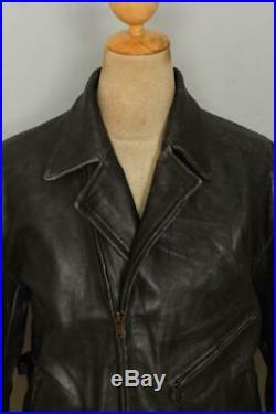 Vtg LEVIS Menlo LVC 1930s Style Half Belt Sports Leather Jacket Size Large