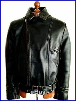 Vtg Leather 40s WW2 HORSEHIDE GERMAN LUFTWAFFE OFFICERS Biker Police Jacket Coat
