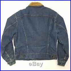 Vtg Lee Storm Rider Mens 42 R 101LJ Large Blanket Lined Jean Denim Jacket USA