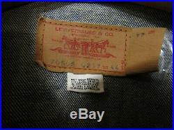 Vtg Levis Big E 70505 Sz 44 Type 3 Trucker Blue Selvedge Denim Jacket 1960s USA