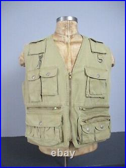 Vtg Polo Ralph Lauren Utility Vest Khaki Hunting/Fishing/Sportsman