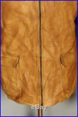 Vtg RALPH LAUREN RRL Leather Sports Motorcycle Jacket XXLarge