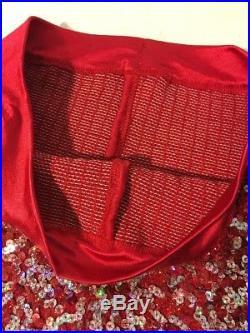 Vtg Rhinestone Sequins Fringe Rockabilly Rodeo Circus Costume Vest Pants