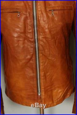 Vtg SCHOTT Cycle Rider Cafe Racer Leather Motorcycle Jacket Fleece Liner