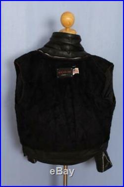 Vtg SCHOTT Dur-o-jac Leather Motorcycle Jacket Fleece Liner Size 42