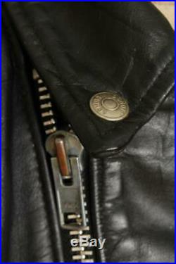 Vtg SCHOTT PERFECTO 618/118 Leather Motorcycle Biker Jacket Size 44