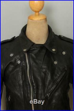 Vtg SCHOTT PERFECTO 618 Leather Motorcycle Biker Jacket Size 36/38