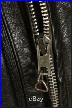 Vtg SCHOTT PERFECTO Black Leather CHP Motorcycle Jacket Size Large