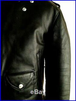 Vtg SCHOTT PERFECTO Police Motorcycle Biker Cafe Racer Bike Brando Jacket Coat