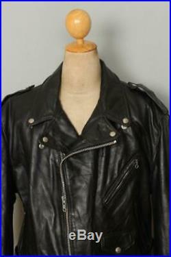 Vtg SCHOTT PERFECTO Steerhide 618 Leather Motorcycle Jacket Size 50