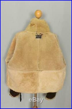Vtg SCHOTT RAF Irvin Sheepskin Leather Flight Jacket B-3 Size 50