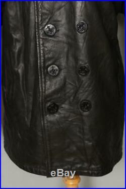 Vtg SCHOTT US NAVY 740N Leather PEA COAT Size 40