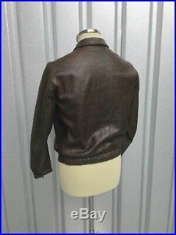 WW2 Hartmann Jacket 1930s Leather Jacket Vtg 40s Jacke 2. WK Veste Ancien Cuir