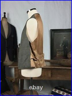 Waistcoat 1920's Chore Vest Vtg Waistcoat 1920 Antique Vest L XL Browns Beach
