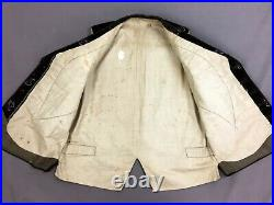 Waistcoat Antique Vest Victorian Waistcoat Velvet Velour Pattern Vtg French